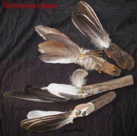 Räucherfächer und Räucherfedern, Federfächer oder Tanzfächer
