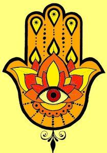 Die Bedeutung und Anwendung magischer, spiritueller Symbole und Gegenstände: Hasma Hand