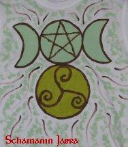 Pentagramm Triskele Tripelmoon