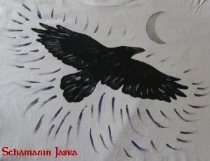 Krafttier Krähe und Mondsichel