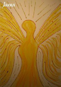 Schutzengel, gelb, gold