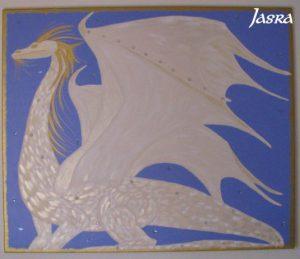 Drachen, Acryl aucf Leinwand, Kraftbild