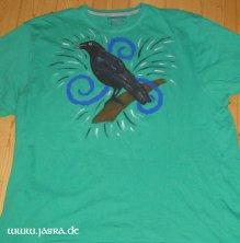 Textilien handbemalt Krafttier T-Shirt
